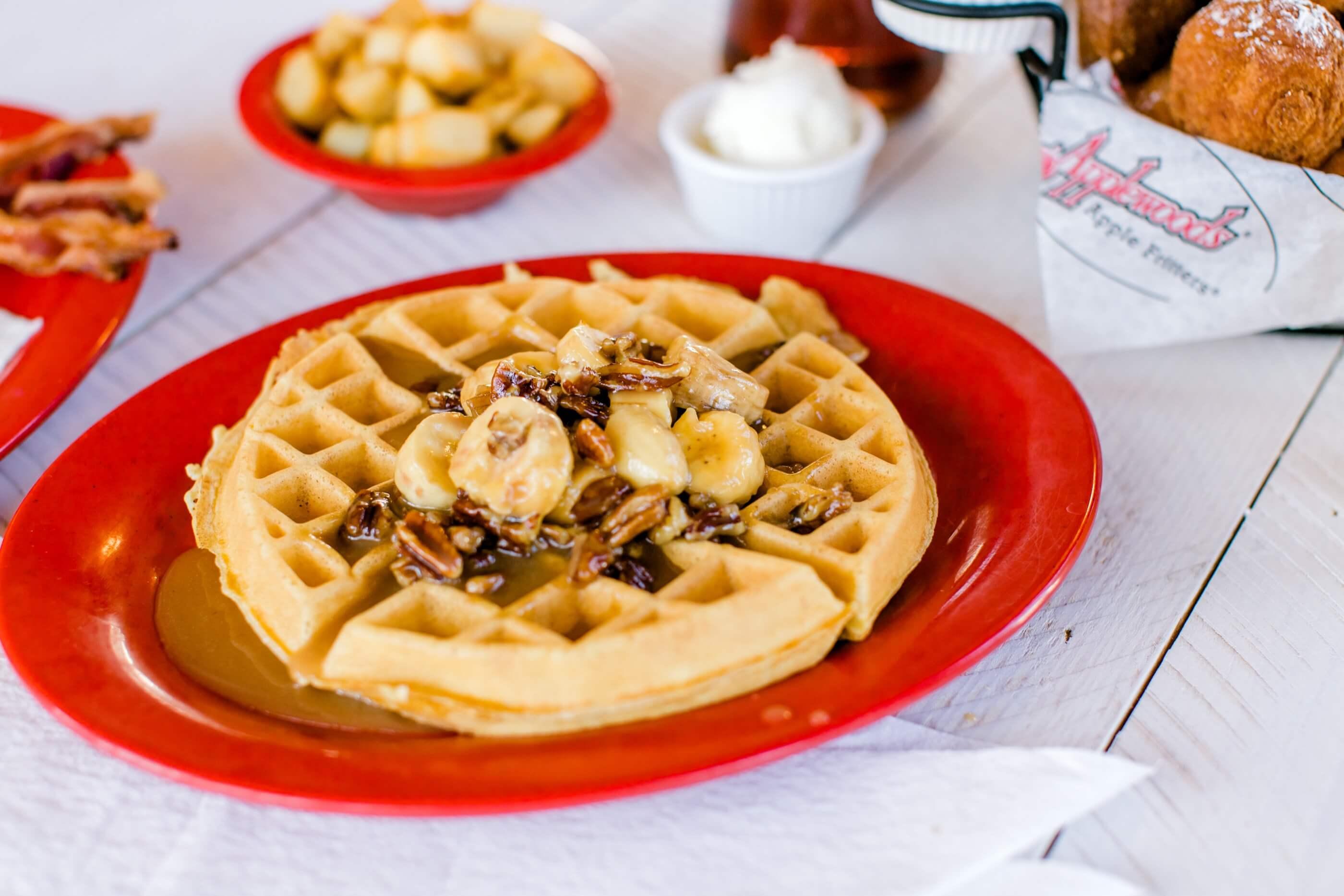 Banana Foster Waffle